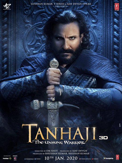 Saif Ali Khan's look as Uday Bhan in Tanhaji