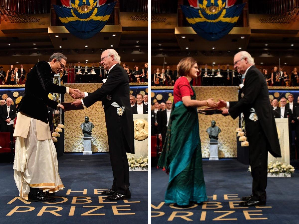 Abhijit Banerjee, Esther Duflo opt for Indian attire at Nobel Prize ceremony in Sweden