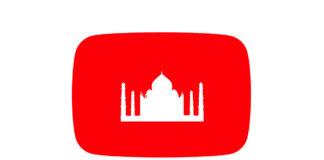 YouTube logo with Taj Mahal on it