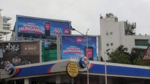 This is an image of JIO billbords in Bandra, Mumbai