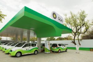 Ola Electric charging station