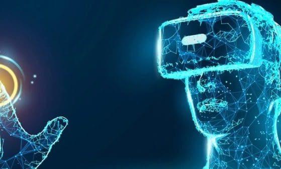 Human Hologram Wearing VR Headset