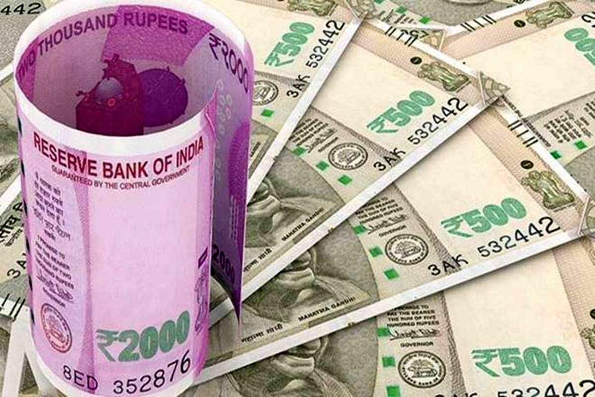 Image of Rs 2000 and Rs 500 notes