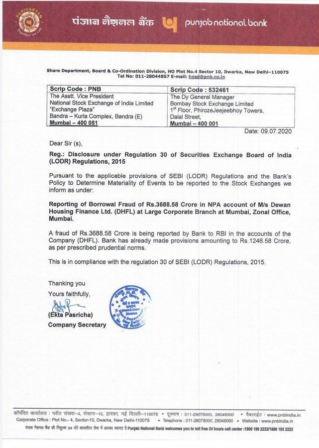 PNB Letter