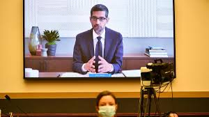 Google CEO Sundar Pichai testifies before the House Judiciary Subcommittee on Antitrust, Commercial and Administrative Law, at Capitol Hill in Washington DC.||MANDEL NGAN/AFP/BLOOMBERG/GETTY IMAGES