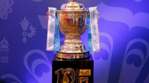 A view of the IPL Trophy