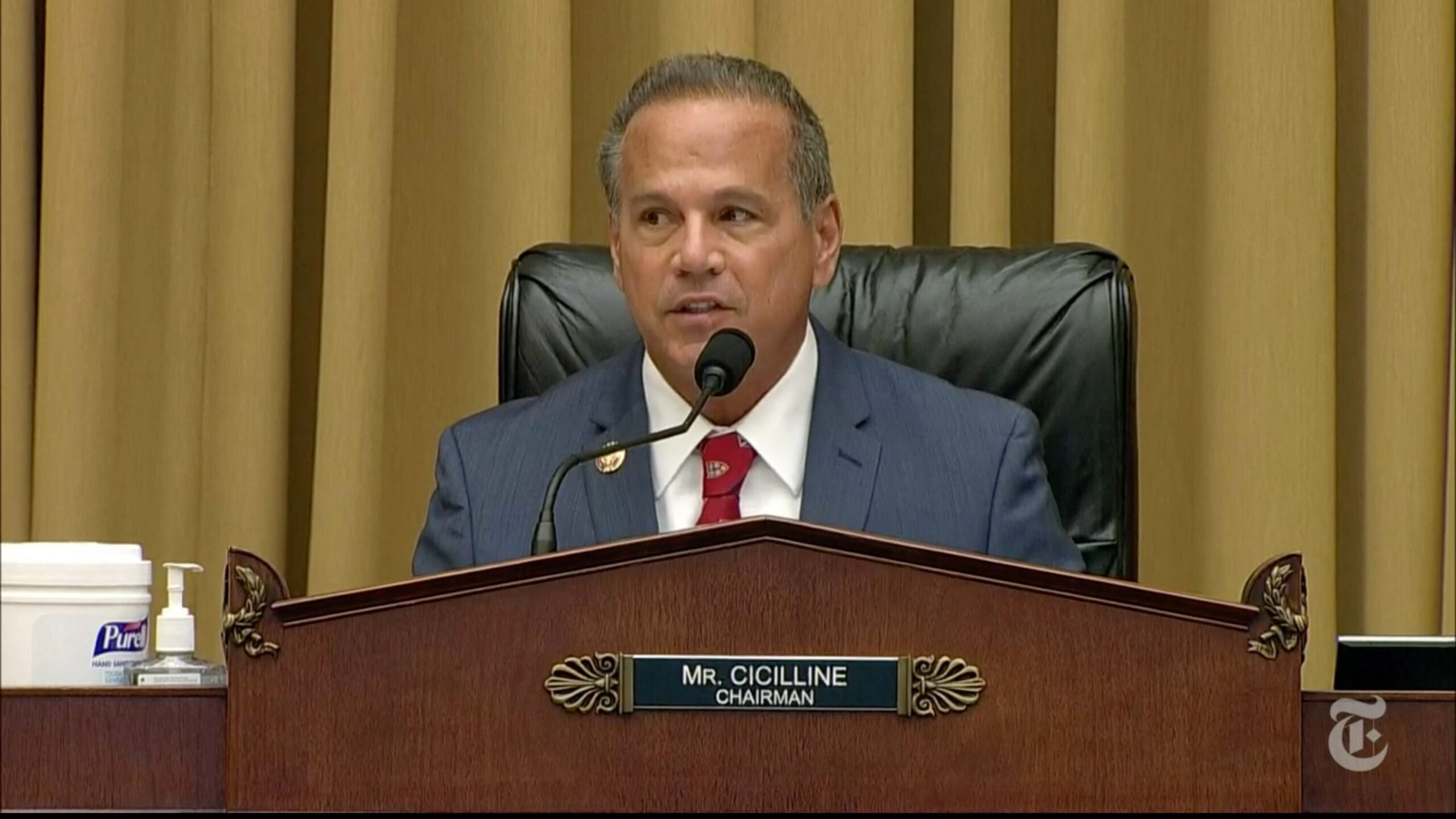 Chairperson Cicilline during the House Judiciary Subcommittee on Antitrust, Commercial and Administrative Law, at Capitol Hill in Washington DC.||MANDEL NGAN/AFP/BLOOMBERG/GETTY IMAGES