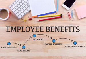 Group health benefits offer medical protection for the company's workers.