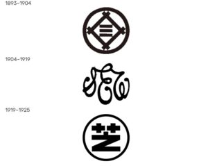 Logos of Shibaura Seisaku-sho (Shibaura Electronic Works) over the years. Photos by: logos.fandom.com