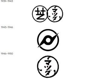 Logos of Tokyo Shibaura Denki over the years. Photos from:logos.fandom.com