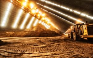 Mining is the extraction of valuable minerals or other geological materials from the Earth