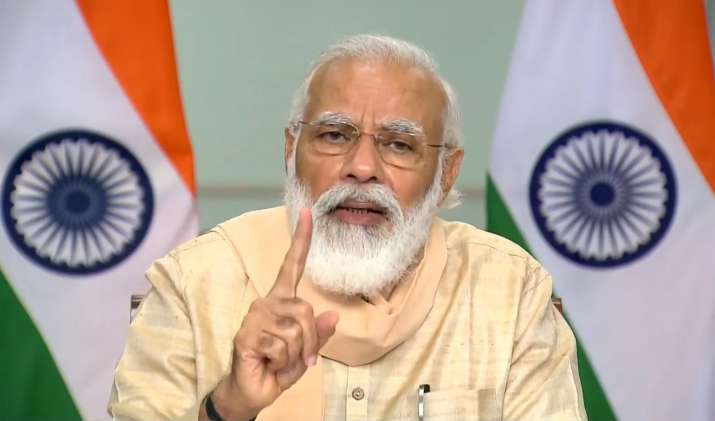 Narendra Modi announcing the new tax reforms