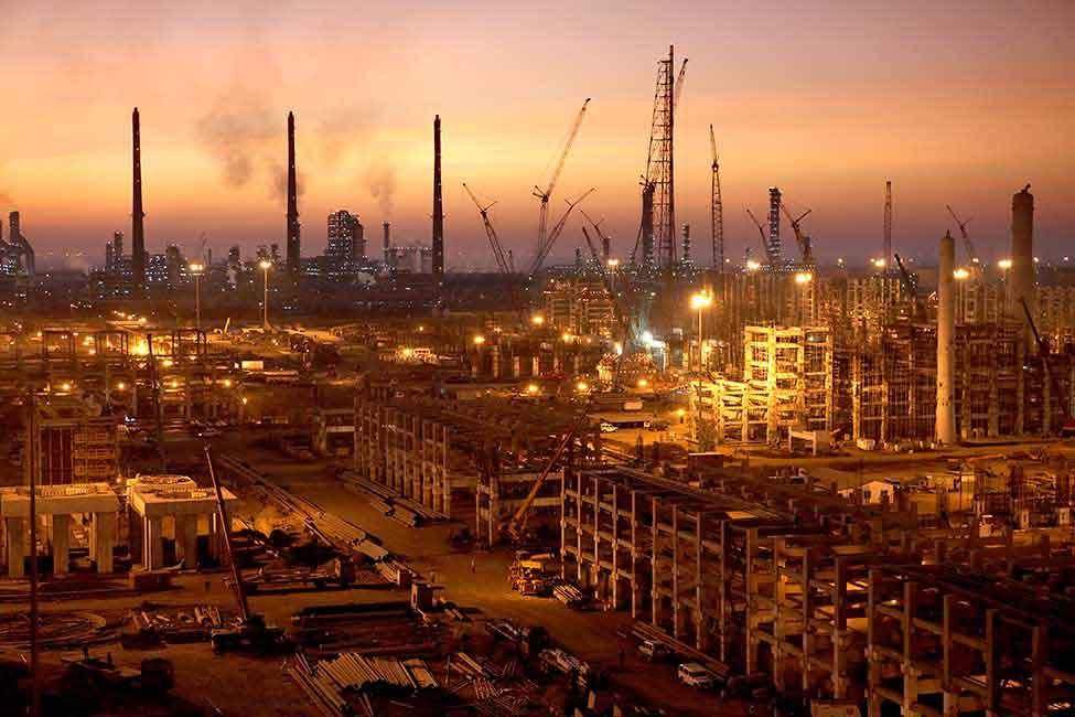 RIL Jamnagar refinary, the largest petroleum hub in the world