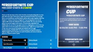 #FreeFortnite rules and details