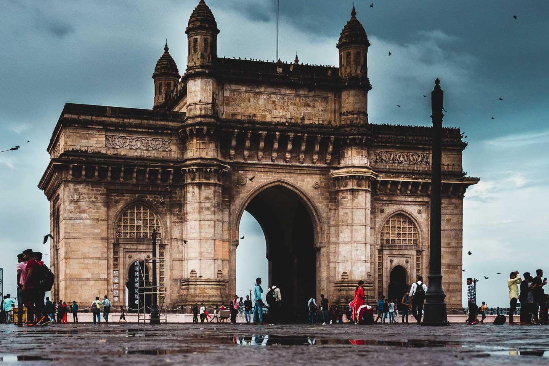 Gate way of India Mumbai rains
