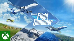 microsoft flight simulator cover image with xbox logo on bottom left