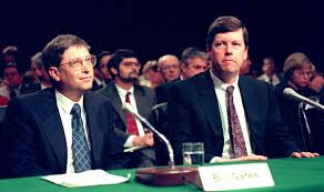 Microsoft Antitrust Case 1998    Photograph by: Jessica Persson/AFP/Getty Images