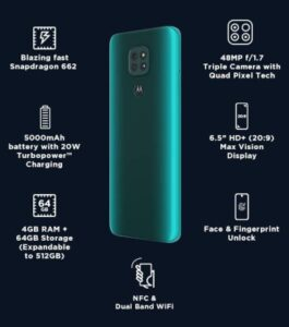 Moto G9 Forest Green Specifications