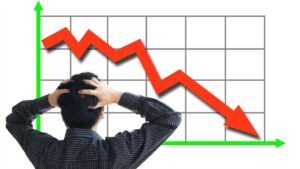 share price slumped because the bank reportedloss