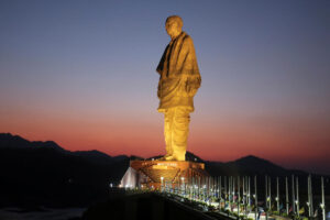 The Statue of Unity is a colossal statue of Indian statesman and independence activist Sardar Vallabhbhai Patel