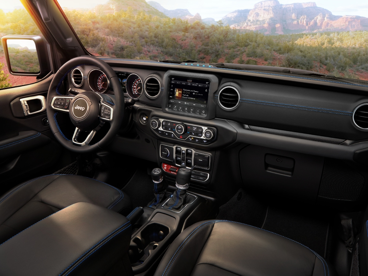 Jeep Wrangler Plug-in Hybrid 4xe Interior Dashboard