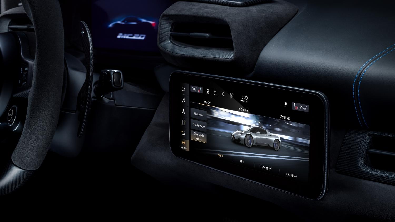 Maserati MC20 infotainment system