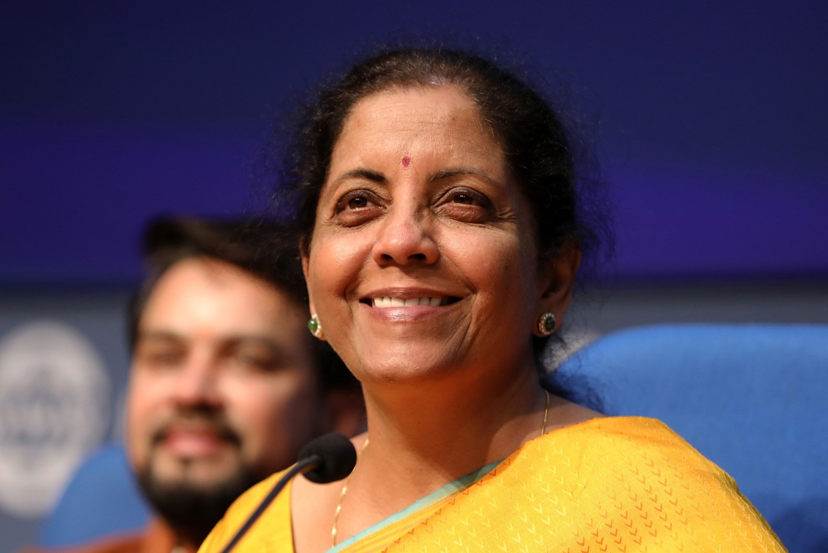 India's Finance Minister Nirmala Sitharaman Presents Budget To Parliament