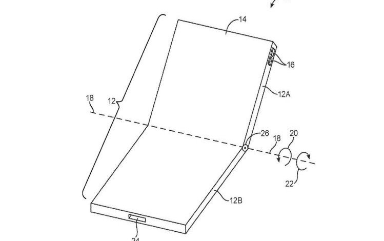 foldable phone leaked sketch