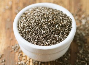 Small oval seeds that are mostly black or white are Chia seeds.