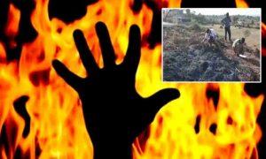A priest set on fire alive