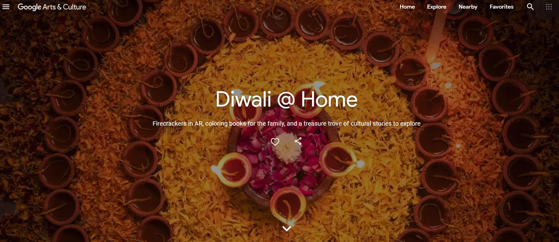 Google virtual diwali