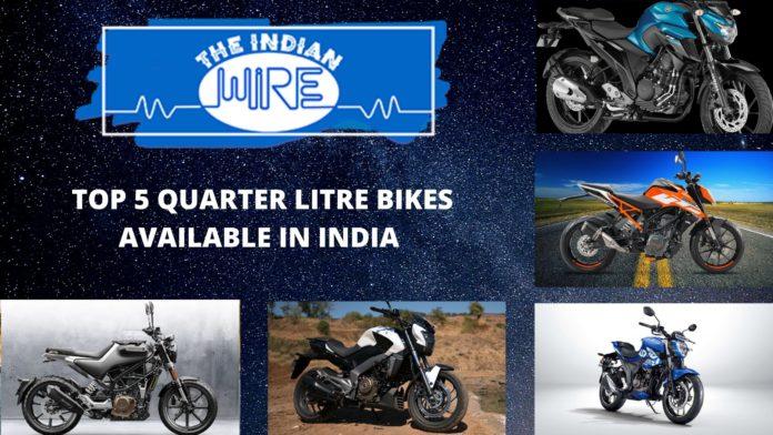 Top Five Quarter Litre Bikes In India