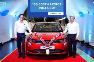 Tata Altroz 1,00,000th Unit